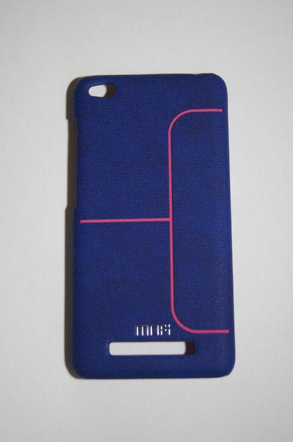 Пластиковая накладка бренда Mofi с полоской для Xiaomi Redmi 4A (Dark Blue)