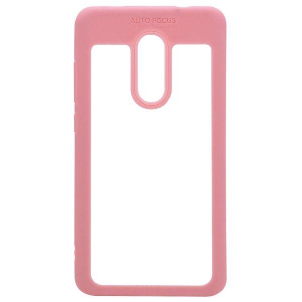Силиконовый чехол Auto Focus с окантовкой для Xiaomi Redmi Note 4X / Note 4 (SD) Розовый