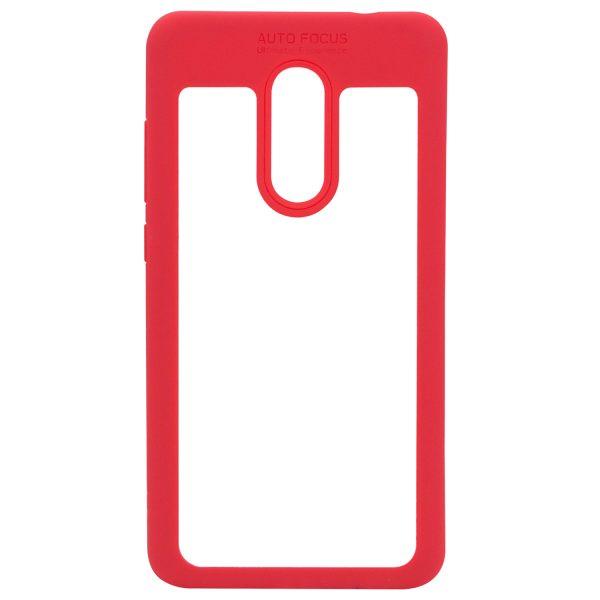 Силиконовый чехол Auto Focus с окантовкой для Xiaomi Redmi Note 4X / Note 4 (SD) Красный