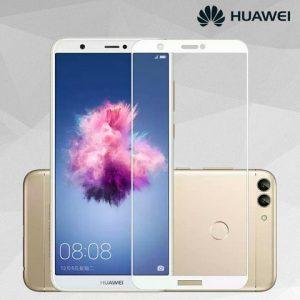 Защитное стекло 2.5D (на весь экран) для Huawei P Smart (White)