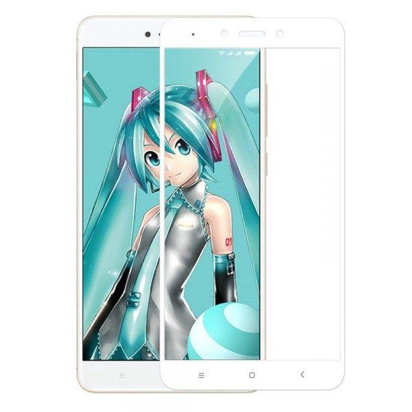 Защитное стекло 2.5D CP+ на весь экран (цветное) для Xiaomi Redmi 5A (Белый)