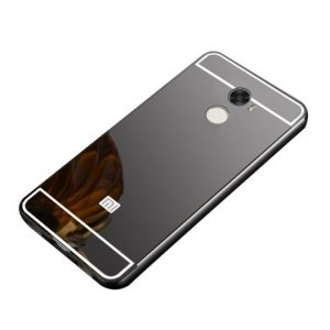 Металлический бампер с акриловой вставкой с зеркальным покрытием для Xiaomi Redmi 4 (Grey)