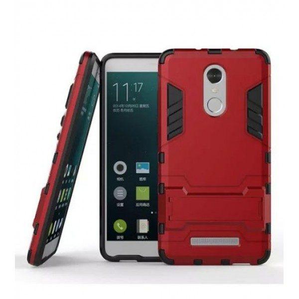 Ударопрочный чехол-подставка Transformer для Xiaomi Redmi Note 3/Note 3 Pro с мощной защитой корпуса (Красный / Dante Red)