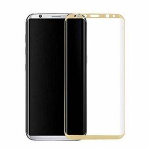 Цветное защитное 3D стекло на весь экран для Samsung G955 Galaxy S8 Plus (Gold)