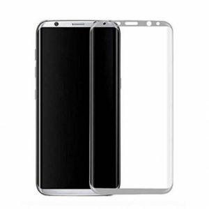 Цветное защитное 3D стекло на весь экран для Samsung G955 Galaxy S8 Plus (White)