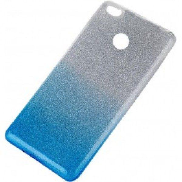 Силиконовый TPU чехол – бампер с блестками Gradient для Xiaomi Redmi 4X (Blue)