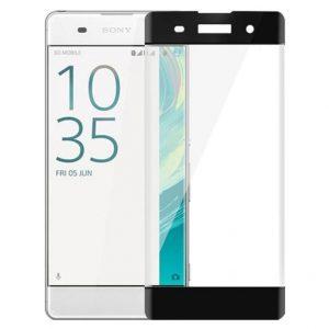 Цветное защитное 3d стекло (на весь экран) для Sony Xperia XA / XA Dual (Black)