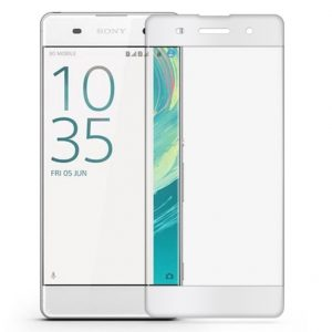 Цветное защитное 3d стекло (на весь экран) для Sony Xperia XA / XA Dual (White)