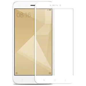 Защитное цветное стекло 2.5d Full cover (на весь экран) Xiaomi Redmi 4X