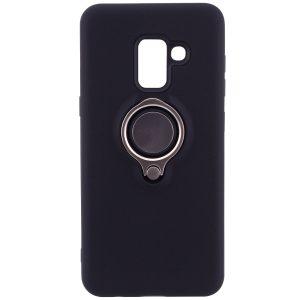 TPU+PC чехол Deen с креплением под магнитный держатель для Samsung A530 Galaxy A8 (2018) Black