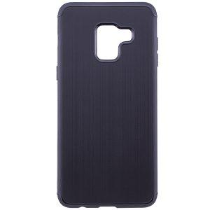 TPU чехол Metal для Samsung A530 Galaxy A8 (2018) Black