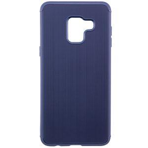 TPU чехол Metal для Samsung A530 Galaxy A8 (2018) Navy Blue
