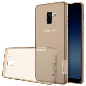 TPU чехол Nillkin Nature Series для Samsung A530 Galaxy A8 (2018) Clear Gold