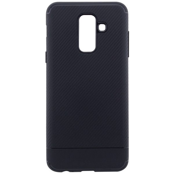 TPU чехол Carbon для Samsung Galaxy A6 Plus (2018) Black