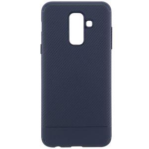 TPU чехол Carbon для Samsung Galaxy A6 Plus (2018) Navy Blue