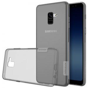 TPU чехол Nillkin Nature Series для Samsung A730 Galaxy A8+ (2018) Прозрачный серый