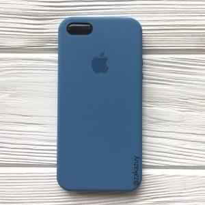 Оригинальный силиконовый чехол (Silicone case) для Iphone 5 / 5s / SE (Azure)