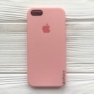 Оригинальный силиконовый чехол (Silicone case) для Iphone 5 / 5s / SE (Light Pink) №14