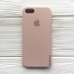 Оригинальный силиконовый чехол (Silicone case) для Iphone 5 / 5s / SE (Powder) №8
