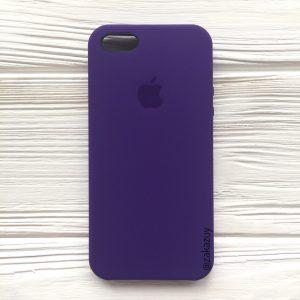 Оригинальный силиконовый чехол (Silicone case) для Iphone 5 / 5s / SE (Ultra Violet) №2