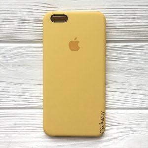 Оригинальный силиконовый чехол (Silicone case) для Iphone 6 / 6s (Yellow) №13