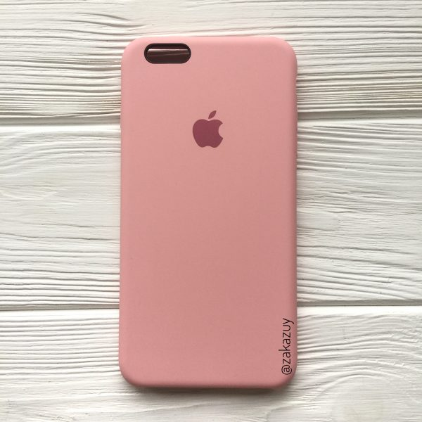 Оригинальный силиконовый чехол (Silicone case) для Iphone 6 Plus / 6s Plus (Light Pink)