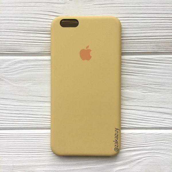 Оригинальный силиконовый чехол (Silicone case) для Iphone 6 Plus / 6s Plus (Light Yellow)