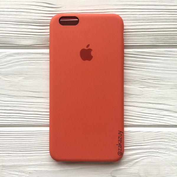 Оригинальный силиконовый чехол (Silicone case) для Iphone 6 Plus / 6s Plus (Orange)