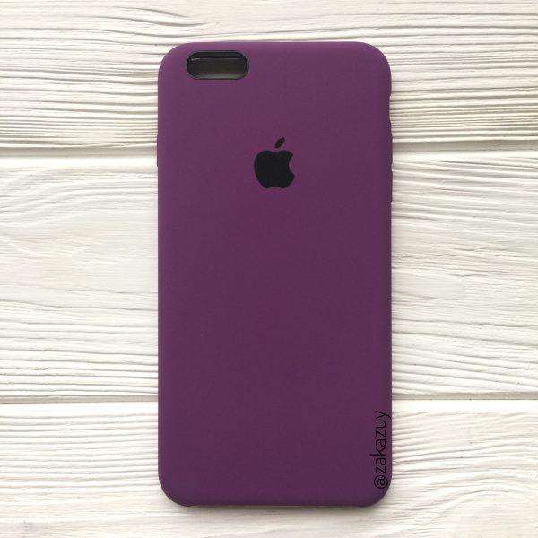 Оригинальный силиконовый чехол (Silicone case) для Iphone 6 Plus / 6s Plus (Purple) №28