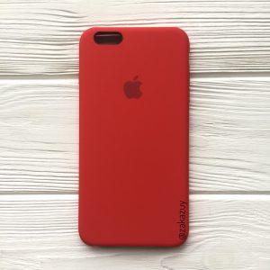 Оригинальный силиконовый чехол (Silicone case) для Iphone 6 / 6s (Red) №5