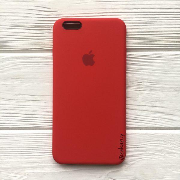 Оригинальный силиконовый чехол (Silicone case) для Iphone 6 Plus / 6s Plus (Red) №5