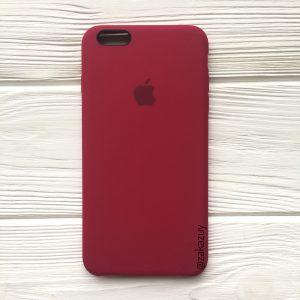 Оригинальный силиконовый чехол (Silicone case) для Iphone 6 / 6s (Rose Red) №4