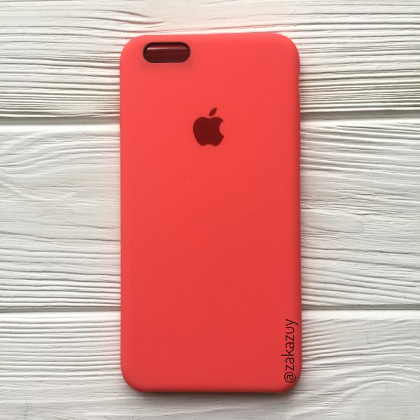 Оригинальный силиконовый чехол (Silicone case) для Iphone 6 Plus / 6s Plus (Ultra Coral)