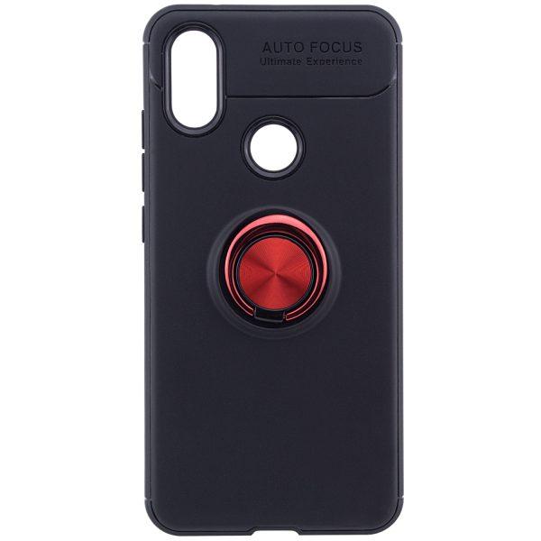 TPU+PC чехол Deen ColorRing с креплением под магнитный держатель для Xiaomi Mi 6X / Mi A2 (Red)