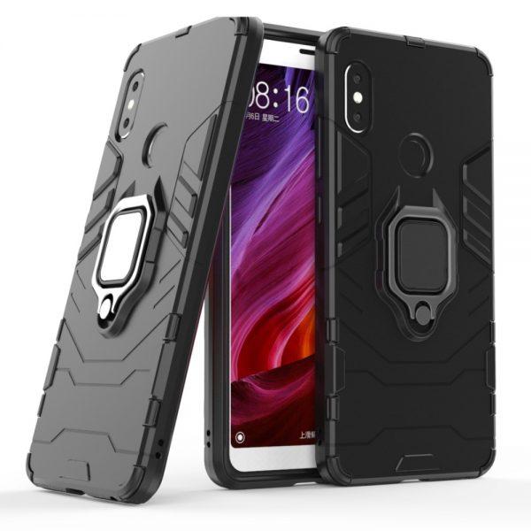 Ударопрочный чехол Transformer Ring для Xiaomi Redmi Note 5 Pro / Note 5 (Black)