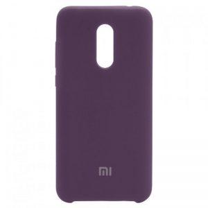 Оригинальный силиконовый чехол c микрофиброй для Xiaomi Redmi 5 (Purple)