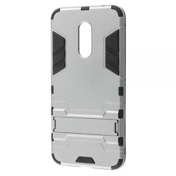 Ударопрочный чехол-подставка Transformer для Xiaomi Redmi 5 с мощной защитой корпуса (Silver)