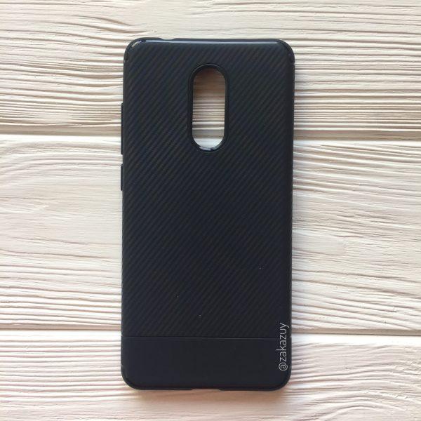 TPU чехол Carbon для Xiaomi Redmi 5 Plus (Navy Blue)