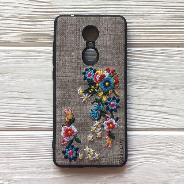 TPU чехол c вышивкой для Xiaomi Redmi 5