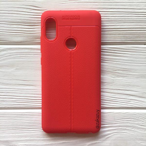 Силиконовый чехол Auto Focus для Xiaomi Redmi Note 5 Pro / Note 5 (Red)
