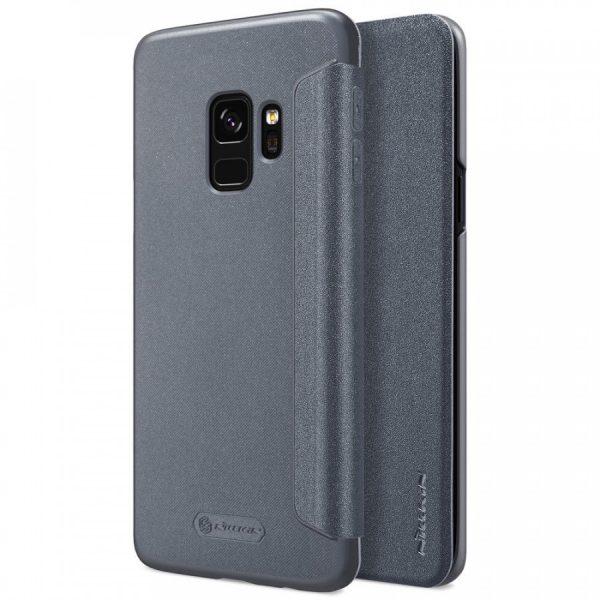 Кожаный чехол (книжка) Nillkin Sparkle Series для Samsung Galaxy S9 (Black)