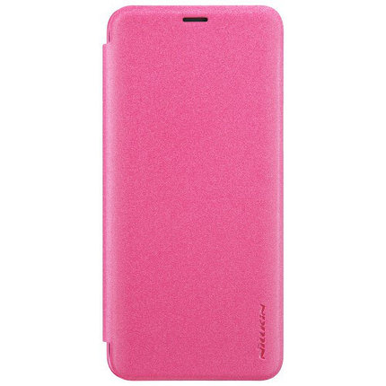 Кожаный чехол (книжка) Nillkin Sparkle Series для Samsung Galaxy S9 (Pink)