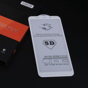 Защитное стекло 5D Full cover (на весь экран) Xiaomi Redmi 5 Plus (white)
