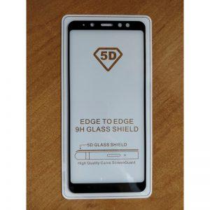 Защитное стекло 5D Full Glue (на весь экран) для Samsung A530 Galaxy A8 (2018) Black