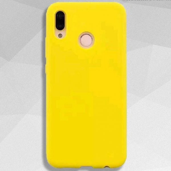 Желтый матовый силиконовый (TPU) чехол (накладка) Soft Touch для Huawei P Smart Plus / Nova 3i (Yellow)