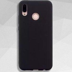 Черный матовый силиконовый (TPU) чехол (накладка) Soft Touch для Huawei P Smart Plus / Nova 3i (Black)
