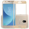 Защитное стекло 3D  Full Cover (на весь экран) для Samsung J320 Galaxy J3 (2016) Gold