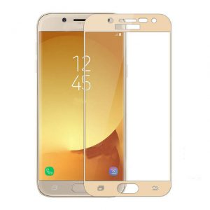 Защитное стекло 3D Full Cover (на весь экран) для Samsung J510 Galaxy J5 (2016) Gold
