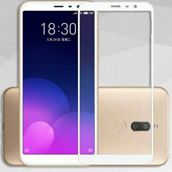 Защитное стекло 3D Full Cover (на весь экран) для Meizu M6T (White)