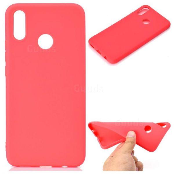 Красный матовый силиконовый (TPU) чехол (накладка) Soft Touch для Huawei P Smart Plus / Nova 3i (Red)